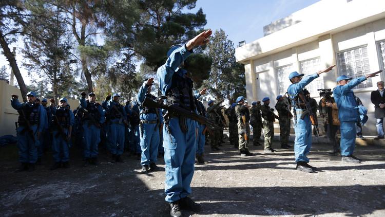 شرطة دربتها تركيا تتولى أمن جرابلس