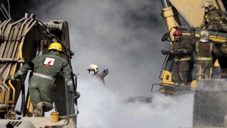 ارتفاع عدد ضحايا انهيار المجمع التجاري في طهران إلى 17 شخصا