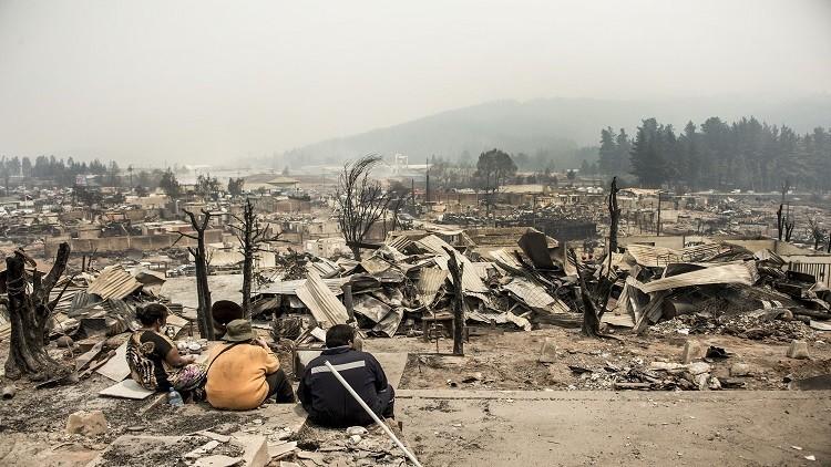مصرع 11 شخصا جراء حرائق غابات في تشيلي
