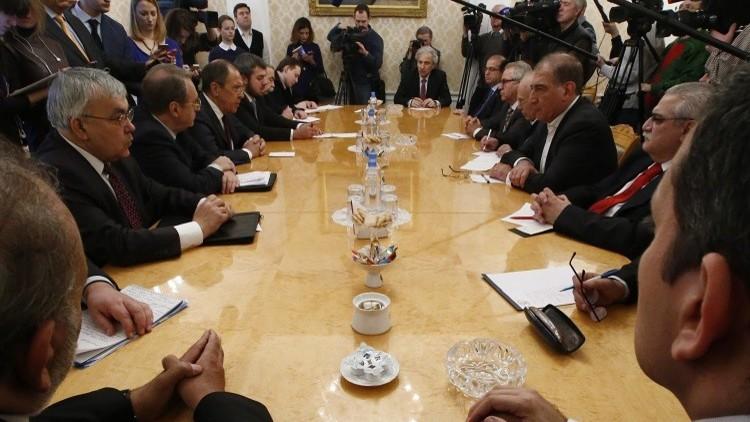 قوى معارضة سورية تصدر بيانا بعد لقائها الوزير لافروف