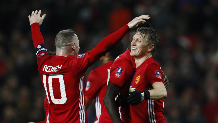 مانشستر يونايتد يكتسح ويغان ويبلغ ثمن نهائي كأس إنجلترا