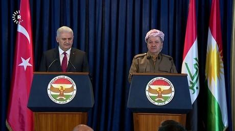 رئيس الوزراء التركي ورئيس إقليم كردستان العراق