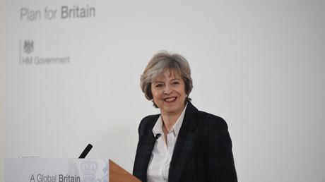 رئيسة الوزراء البريطانية تيريزا ماي تلقي كلمة حول الخروج من الاتحاد الأوروبي، 17/01/2017