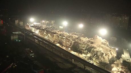 تفجير 19 بناية دفعة واحدة في الصين