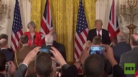 ترامب وماي يبحثان مستقبل علاقات البلدين