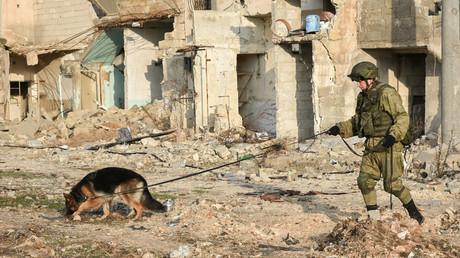 خبير من مفرزة إزالة الألغام الروسية في حلب