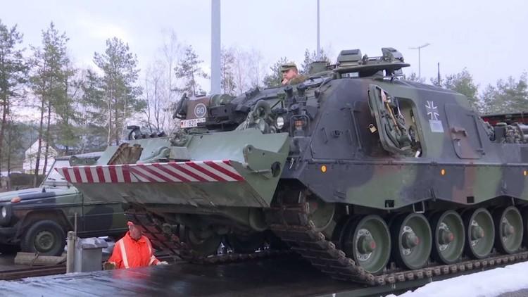 فيديو.. عشرات المركبات العسكرية الألمانية في طريقهم إلى ليتوانيا