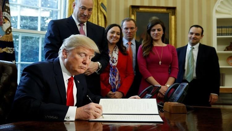 ترامب يلغي مرسوما ماليا لأوباما ويعدل آخر