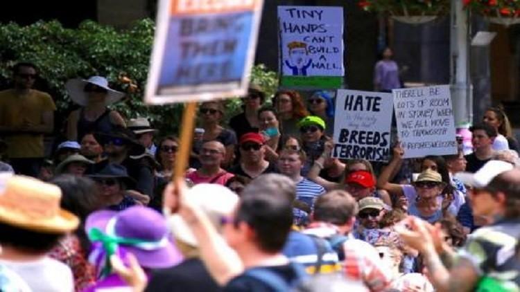 مظاهرات في أستراليا ضد ترامب