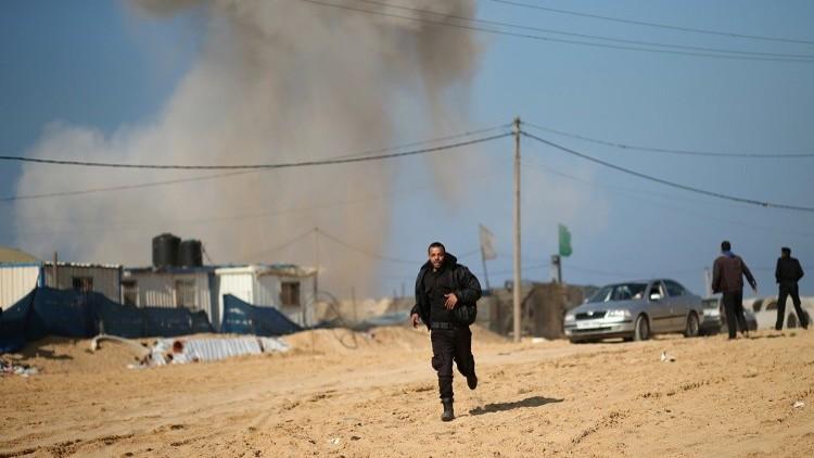 غزة: الطيران الإسرائيلي شن 14 غارة على القطاع