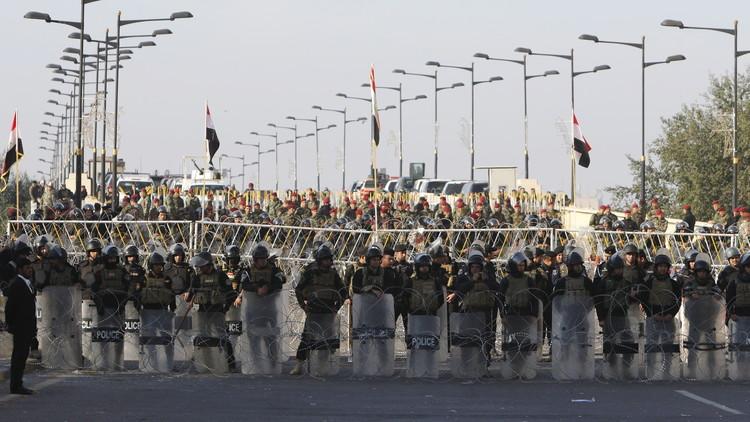الآلاف يتظاهرون في بغداد ضد مفوضية الانتخابات