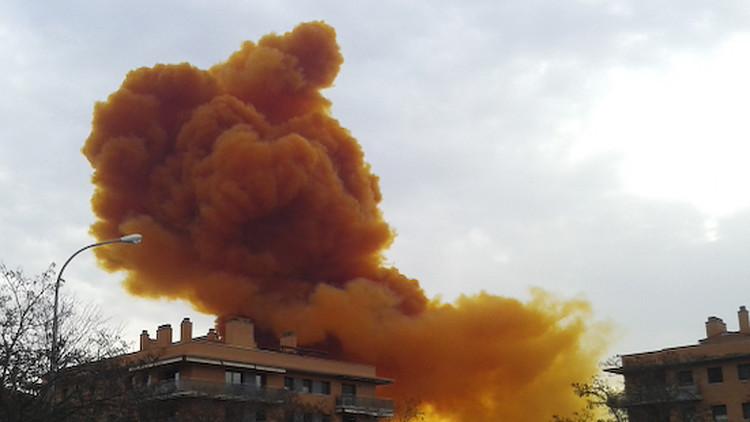 إجلاء 3 آلاف شخص بسبب حريق بمجمع كيميائي في إسبانيا