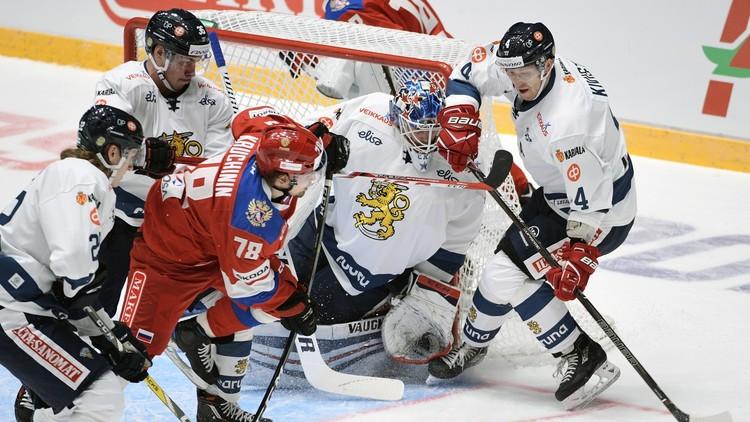 روسيا تفوز على فنلندا بهوكي الجليد
