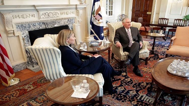تيلرسون يبحث مع موغيريني روسيا واتفاق إيران النووي