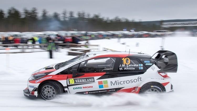 الفنلندي لافلاتا يحرز المركز الأول في رالي السويد