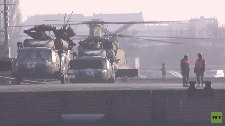 دفعة من المروحيات العسكرية الأمريكية تتوجه إلى شرق أوروبا