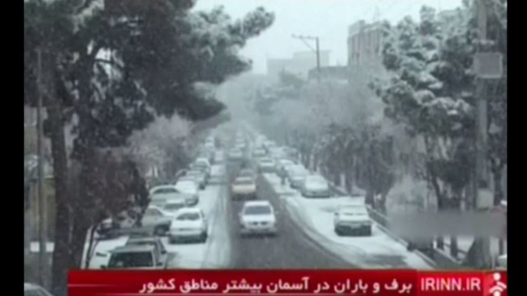 موجة صقيع تجتاح إيران