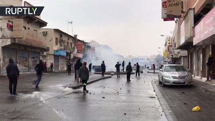 احتجاجات في الديه البحرينية بالذكرى السادسة لثورة فبراير