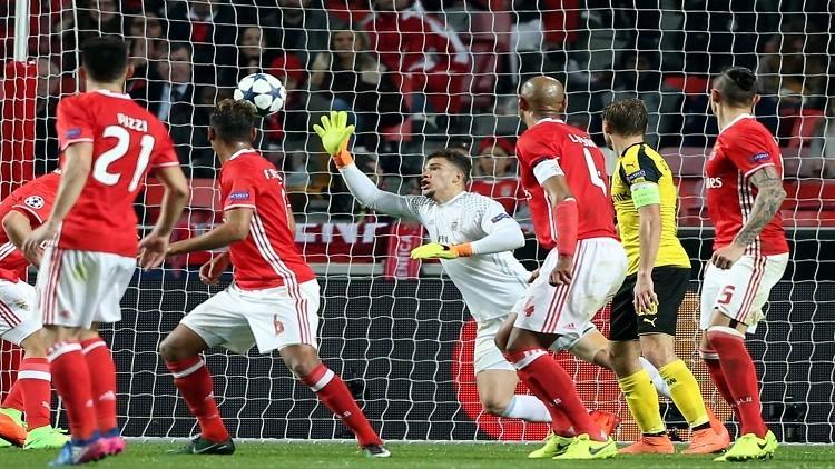 بنفيكا يفوز على دورتموند في دوري أبطال أوروبا