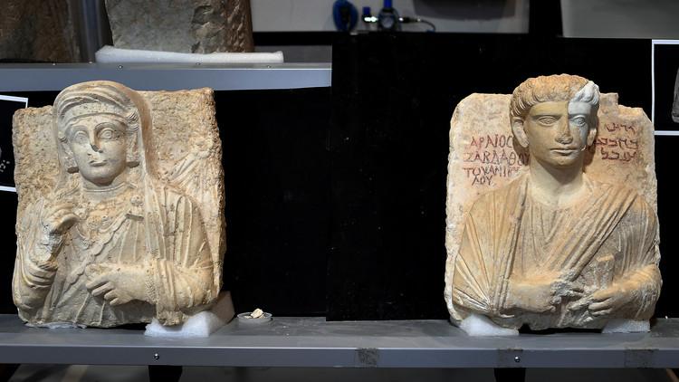 روما تعيد لسوريا تمثالين مرممين دمرهما
