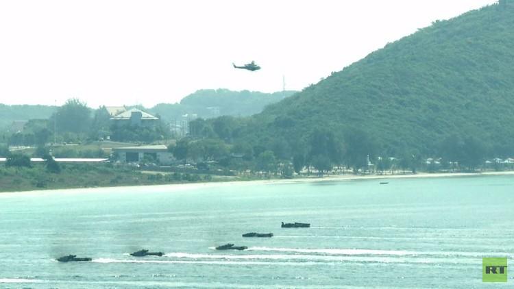 تدريبات عسكرية بمشاركة المركبات البرمائية الأمريكية في تايلاند
