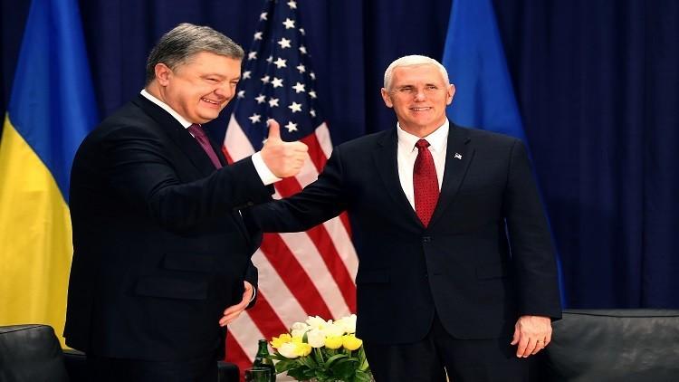 بنس وبوروشينكو يعربان عن قلقهما من تدهو الوضع في دونباس
