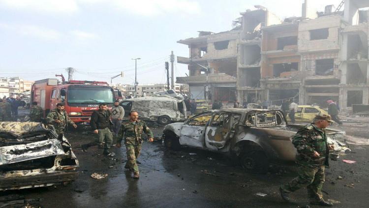 42 قتيلا بينهم ضابط كبير بهجوم على مقرات أمنية في حمص و