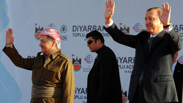 أردوغان وبارزاني يبحثان عملية تحرير الموصل