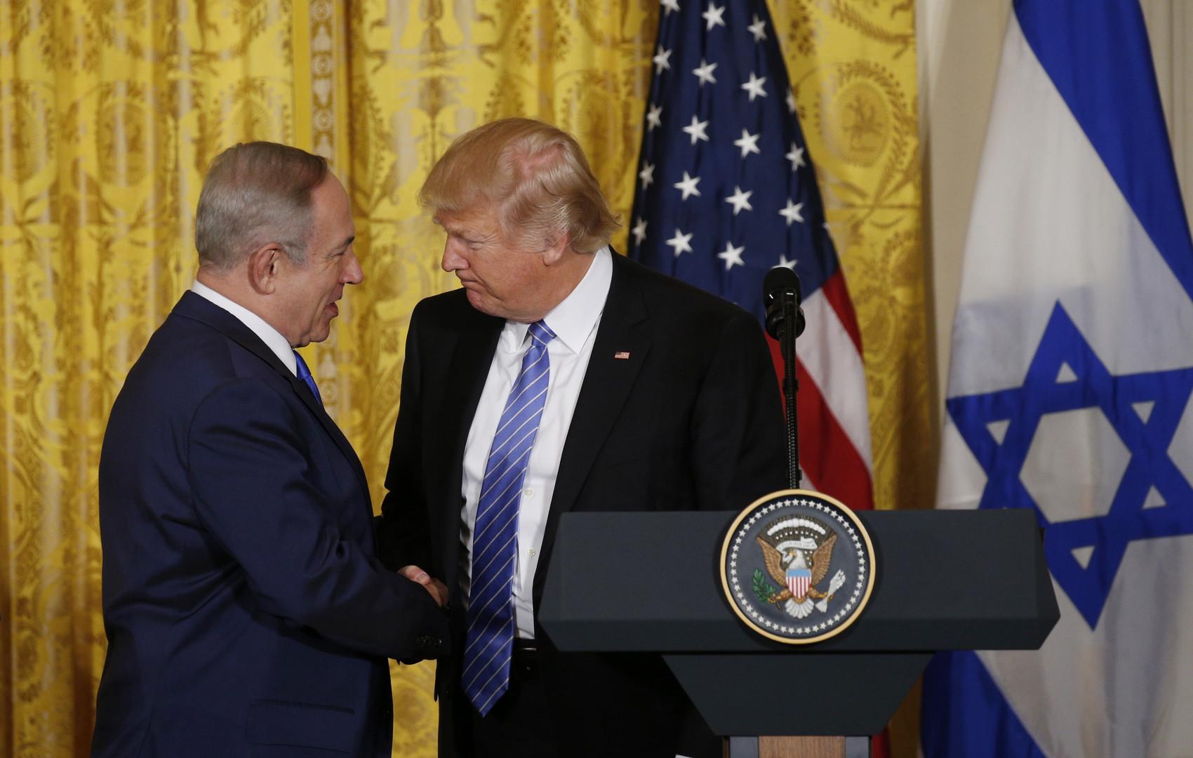 Resultado de imagem para benjamin netanyahu and trump