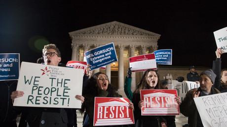احتجاج في واشنطن