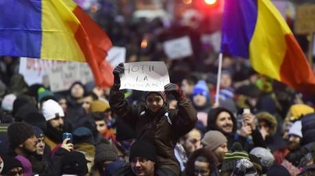 مظاهرات في رومانيا