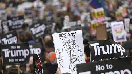 الاحتجاجات في لندن ضد ترامب