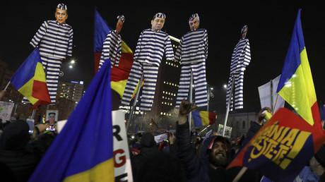 احتجاجات في رومانيا
