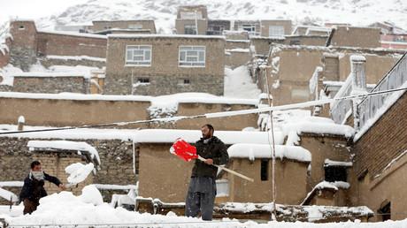 تساقط الثلوج في أفغانستان
