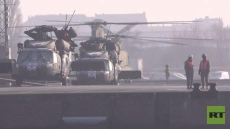 دفعة من المروحيات العسكرية الأمريكية تتوجه الى شرق أوروبا