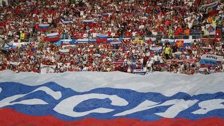 لقطة لمشجعي منتخب روسيا لكرة القدم