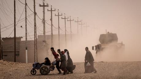 نازحون قرب الموصل