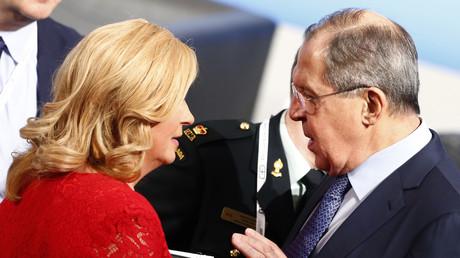 لافروف يناقش رئيسة كرواتيا اثناء مؤتمر ميونخ