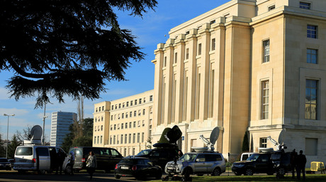 قصر الأمم في جنيف حيث تجري المفاوضات السورية