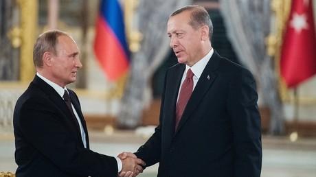 فلاديمير بوتين ورجب طيب أردوغان، 10 أكتوبر/تشرين الأول اسطنبول