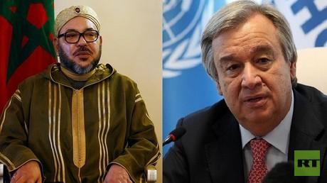 العاهل المغربي، محمد السادس والأمين العام للأمم المتحدة، أنطونيو غوتيريش