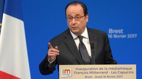 الرئيس الفرنسي فرانسوا أولاند