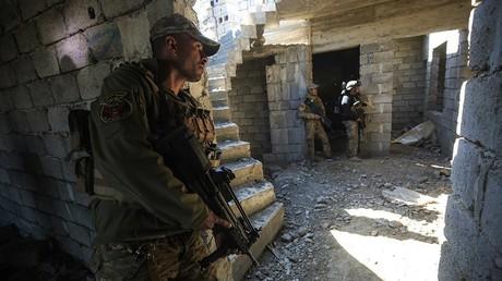 قوات جهاز مكافحة الاٍرهاب العراقية في الموصل