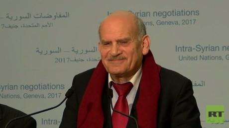 أعلن رئيس وفد منصة موسكو للمعارضة السورية إلى مؤتمر جنيف-4 حمزة منذر