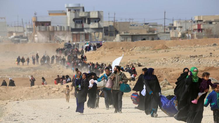 المرصد العراقي: نزوح 4 آلاف عائلة من ساحل الموصل الأيمن