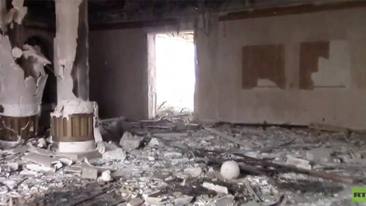 قصر الشيخة موزة في تدمر بعد تحريرها