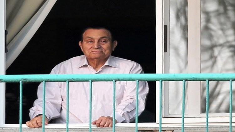 مبارك يبلغ السعودية برغبته في السفر إليها