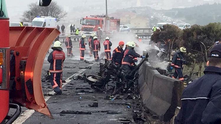 مقتل رجال أعمال روس بتحطم مروحية في اسطنبول