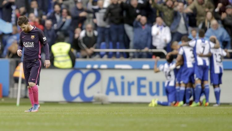 ديبورتيفو لاكارونا يفسد أفراح  برشلونة بـ
