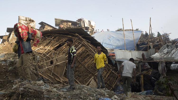 ارتفاع عدد القتلى في انهيار مكب نفايات في إثيوبيا إلى 46 شخصا